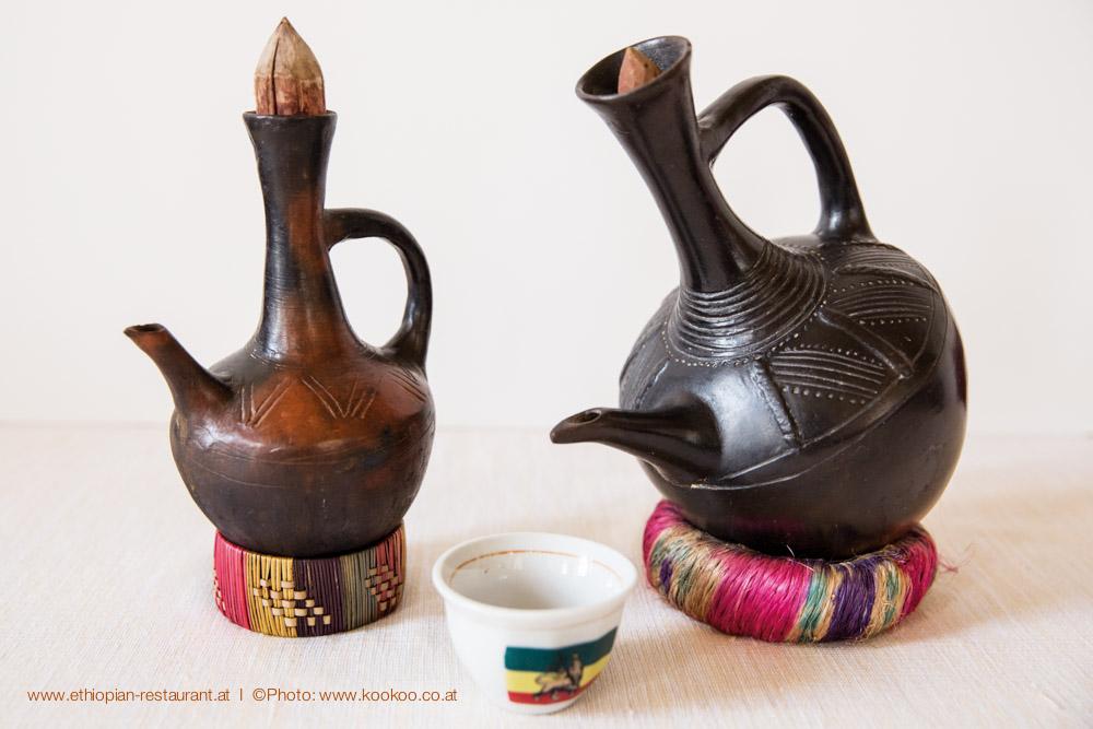 Jabana, die äthiopischen Kaffeekanne